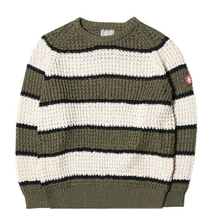 ff2f4a7cb2 Cav Empt. HO   250 Cav Empt Stripe Loose Waffle Knit Sweater DS. Size  US L  ...