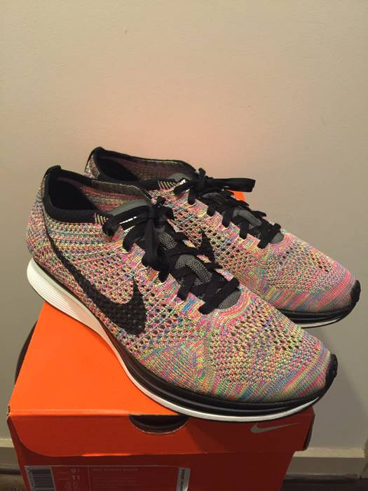 purchase cheap 4b3ae 74040 Nike. Flyknit Racer Multicolor 3.0