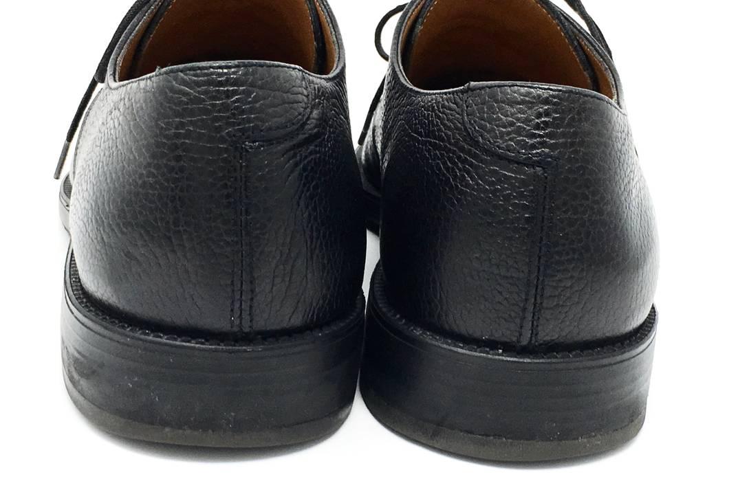 8fbe4abf909 Salvatore Ferragamo Studio Black Pebble Leather Cap Toe Oxfords Size US 10    EU 43 -