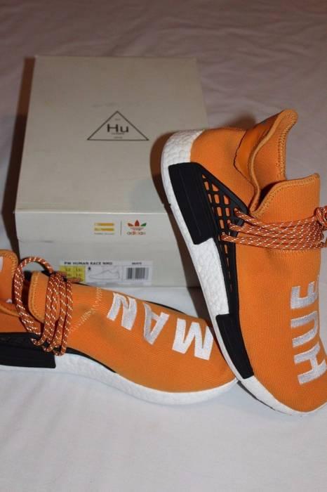 cf296122667a6 Adidas PW Human Race NMD Tangerine Orange Core Black Size US 12   EU 45