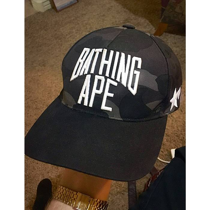 21912d791ab Bape RARE Bathing Ape Black Camo Snapback Size one size - Hats for ...