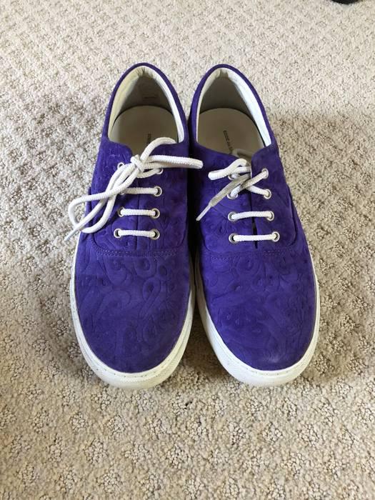 9aa5baa570766e Comme des Garcons. Purple Paisley Suede Canvas Sneaker. Size  US 9   EU 42
