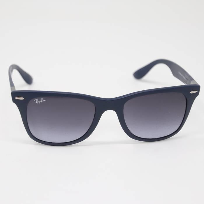 4f9dbd52462 RayBan Blue Rb4195 Wayfarer Liteforce Gray Gradient Lens Sunglasses Size  ONE SIZE