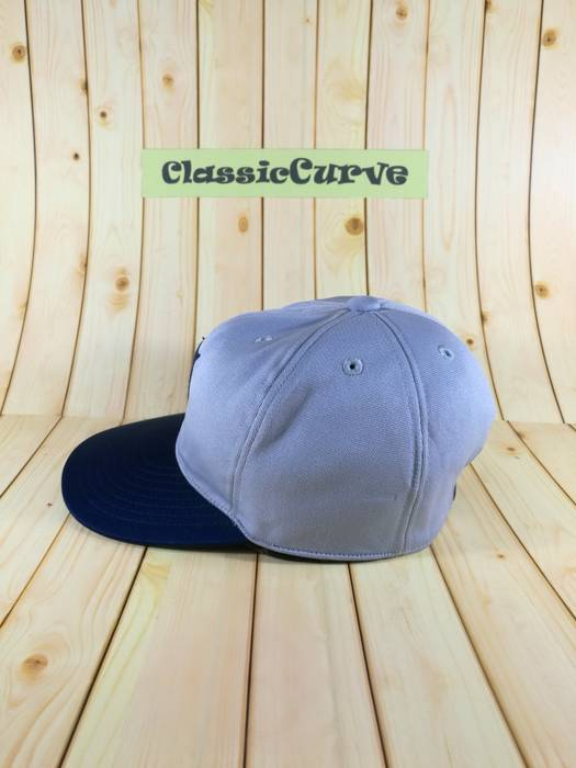 Mizuno Vintage Descente CapWith Big Logo Front Cap Snapback Adjustable Cap  Gray Blue Colour Adidas bb67e5a2e3da