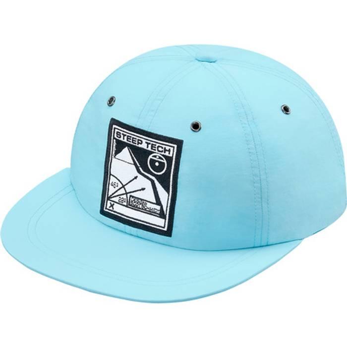 Supreme NEW Supreme X TNF Light Blue Steep Tech 6-Panel Hat Size one ... d25340e8009