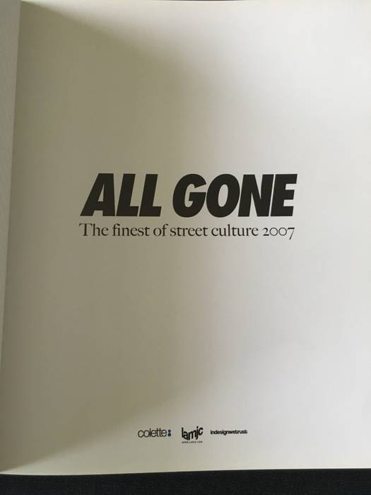 "63d1286605f Supreme Colette ""All Gone"" limited edition 2007 book   Rare Size ONE SIZE"