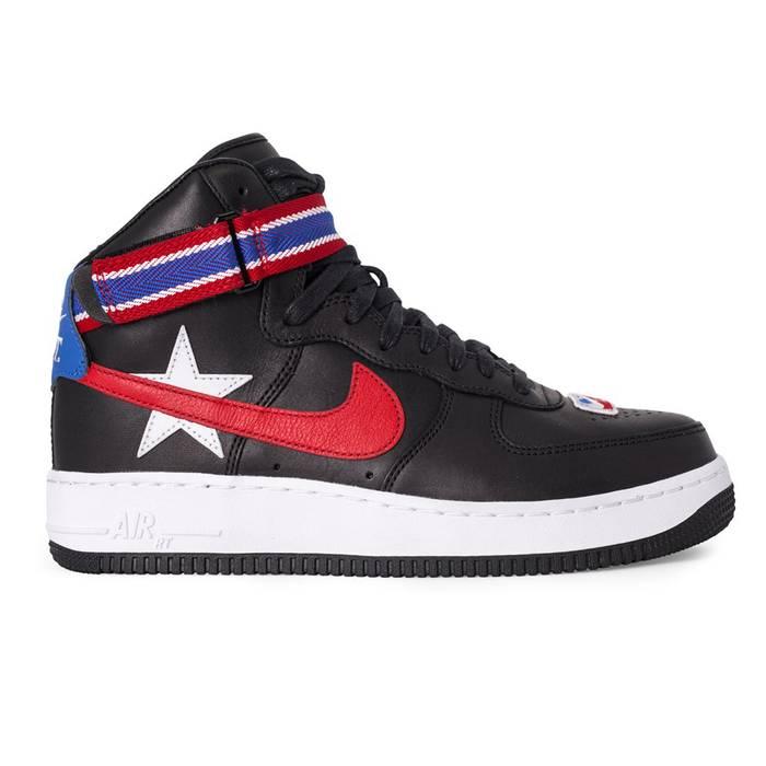 Nike NikeLab Air Force 1 High x RT Riccardo Tisci (Black Leather  Red) a347a7d30