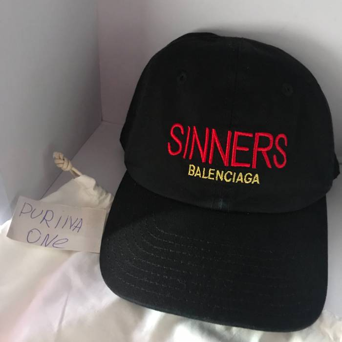12970ebc77a Balenciaga Sinners cap Size one size - Hats for Sale - Grailed