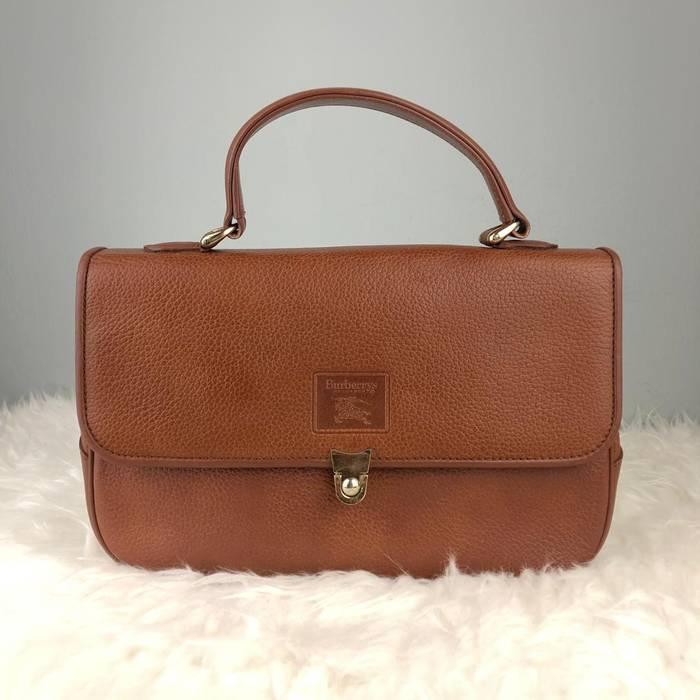 9e27f1b3d8d9 Burberry Prorsum Authentic Burberrys Fully Leather Brown Kelly Style Bag   Burberrys  Bag   Vintage Burberrys
