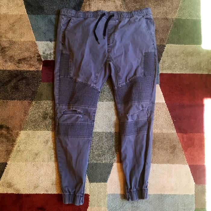 Pacsun. Pacsun Ripped Biker Joggers • Hip Hop Navy Blue Twill Drawstring  Pants b33c1e75c