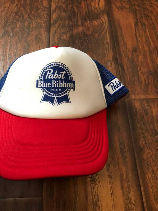 Vintage Pabst Blue Ribbon PBR Vintage Trucker Hat Size one size ... 06a5c47ce9b