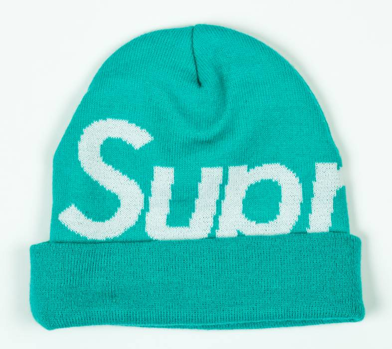 Supreme RARE Supreme New York Big Logo Overdyed Teal Green Aqua Box ... aeee956b054