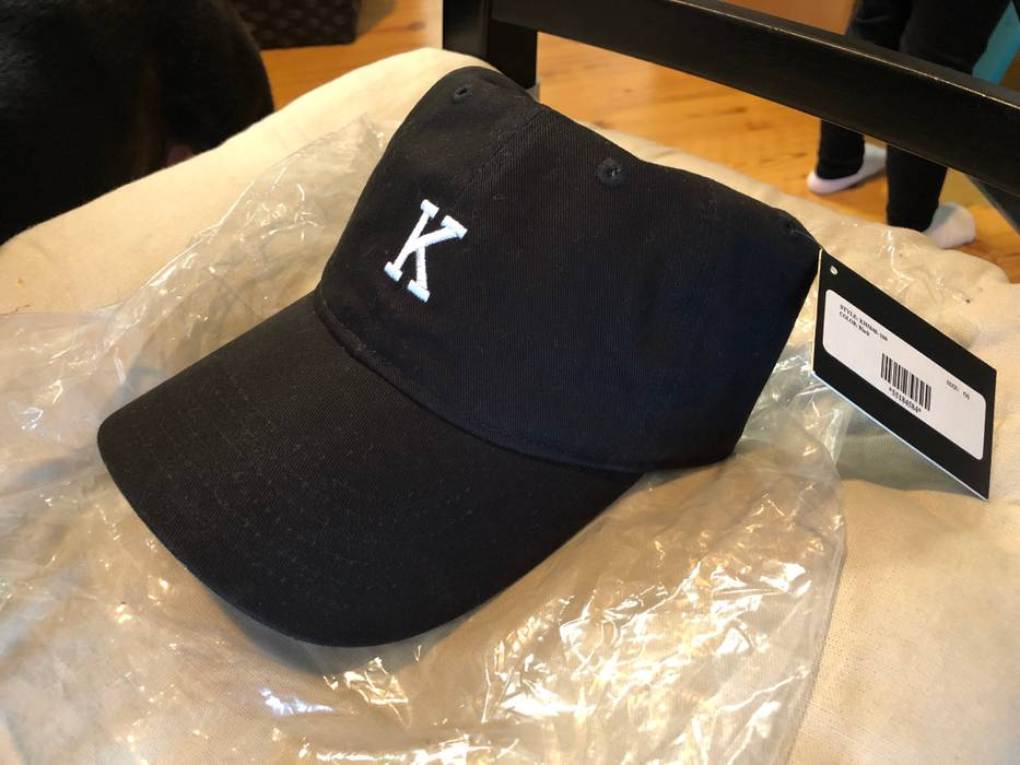 2e1c0cd9896 Kith Nyc K Logo Hat Black Size one size - Hats for Sale - Grailed