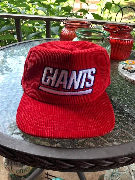 3113b86e4 Vintage Vintage NFL New York Giants Red Corduroy Snapback Size ONE SIZE