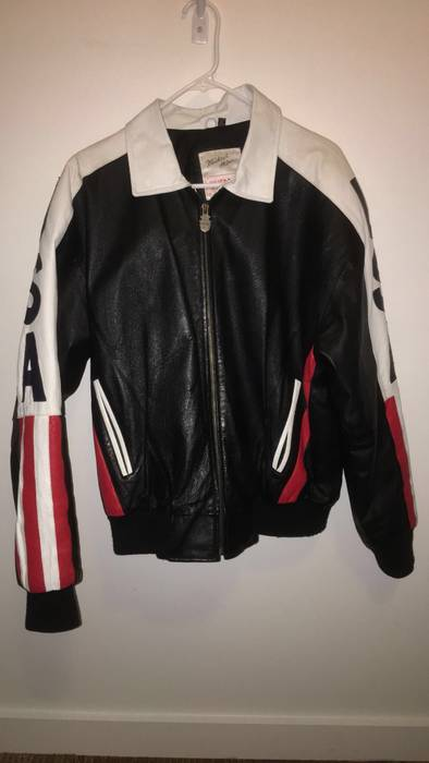 526eb9cc356 Michael Hoban Vintage WHEREMI USA Leather Jacket Size l - Leather ...