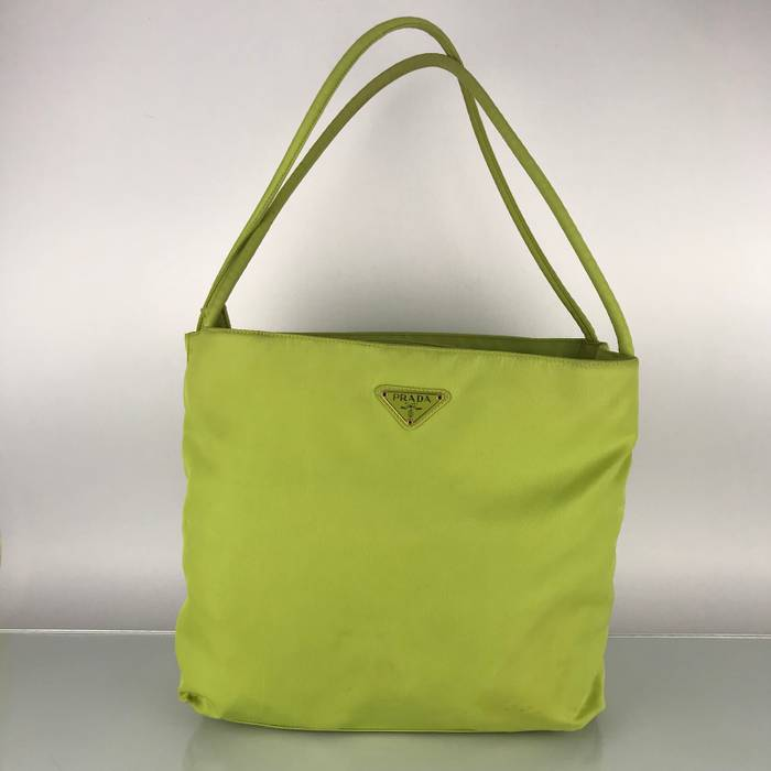 6c8dc5a8aa93 Prada Authentic Prada Green Nylon Shoulder Bag Size one size - Bags ...