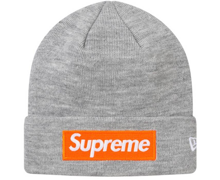 ab2a782c6dc42 Supreme Heather Grey Bogo Beanie Size one size - Hats for Sale - Grailed