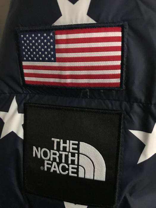 ee89b8acbfc0 The North Face IC Nuptse International Collection USA Cosmic Blue Stars  Size US M   EU