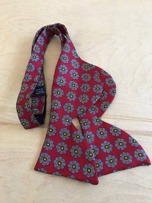 0967d97b605a Polo Ralph Lauren Paisley Bat Wing Self Tie Bow tie Made In England ...
