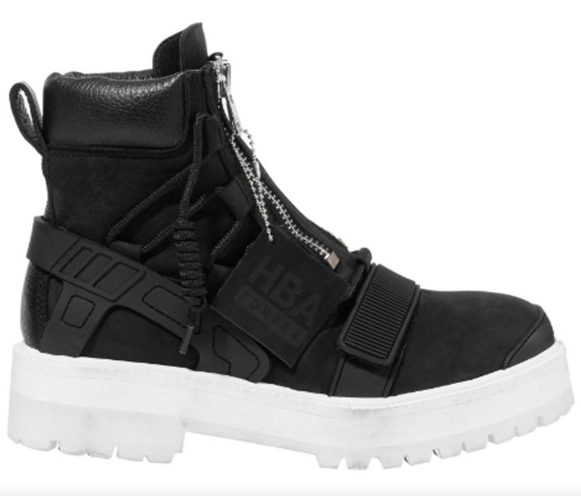 Hood By Air Hba X Forfex Double Zipper Black Deer Leather Combat