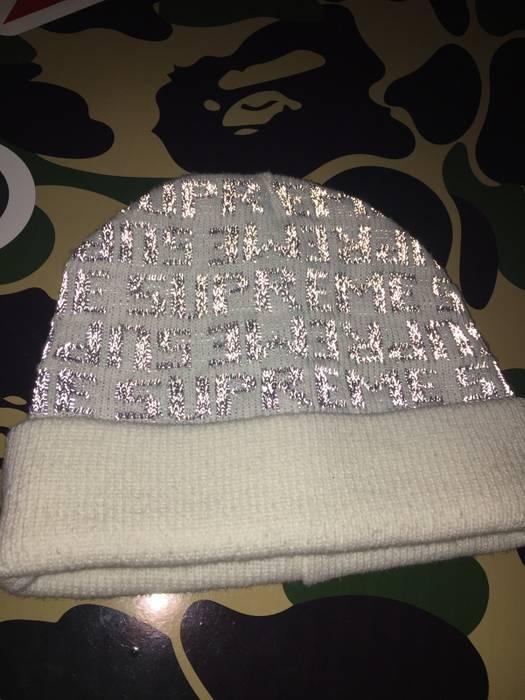 a771bc1878a Supreme. 3m Beanie Skully Supreme Preme Rare White Arctic Grey Snow Hat  Winter