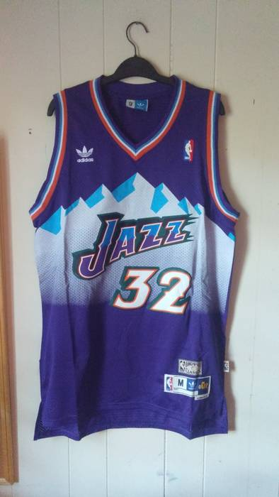 02f430b34d11 Adidas  FINAL DROP  NBA Authentic Hardwood Classic Throwback Utah Jazz Karl  Malone Jersey Size