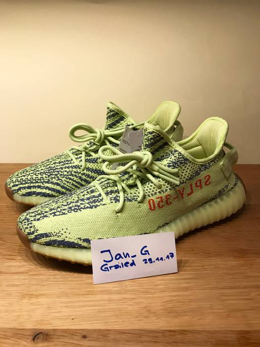 0853c80eaac3 Adidas Kanye West YEEZY BOOST 350 V2 Semi Frozen Yellow US 11   UK 10.5