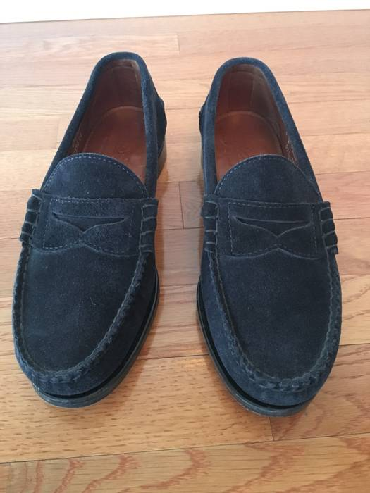 5176745a3fb Rancourt   Co. Beefroll Penny Loafer - Navy Suede Size 9 - Slip Ons ...