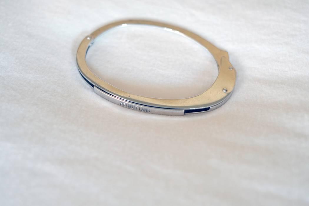 Helmut Lang Handcuff Bracelet Size One