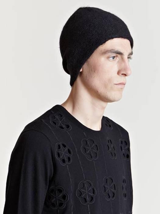 Dries Van Noten FINAL PRICE Black Alpaca Tirol Hat Beanie Size one ... b945b748327