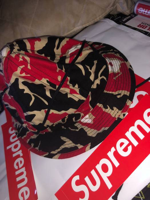 5ca55c9efe0 Supreme Supreme Red Camo Bucket Hat Size one size - Hats for Sale ...