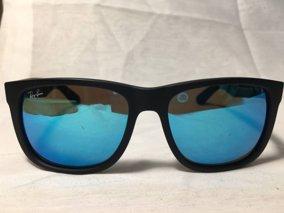 de1d12bc29c5fe RayBan Justin Color Mix Blue Mirror Sunglasses RB4165 622 55 Size ...