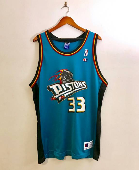 Champion. Vintage 90s Grant Hill Detroit Pistons 33 Champion Jersey ... 2931c32a6