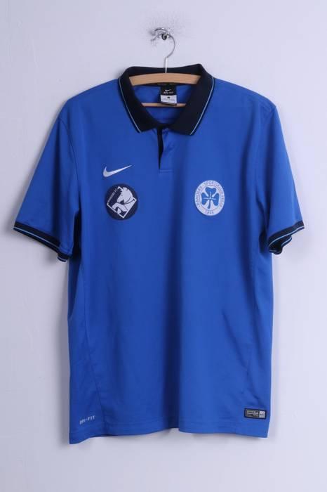b7f7d93ae Nike Nike Mens L Polo Shirt Blue Dri Fit Randers Sportsklub Freja ...