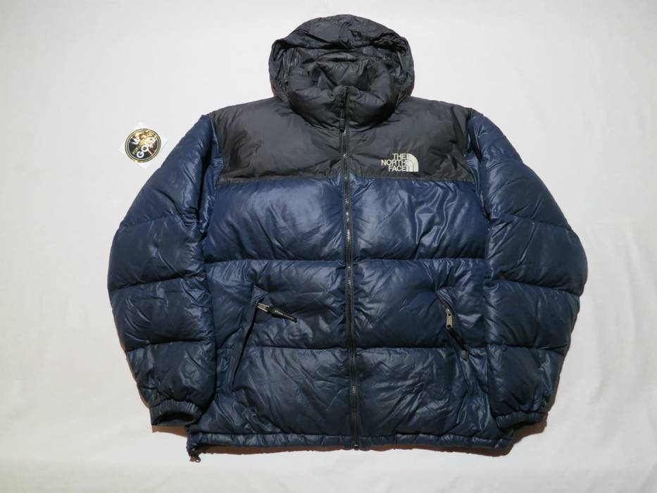 1147413a86 Vintage Vintage original The North Face 700 nuptse goose down royal blue  black jacket Size US