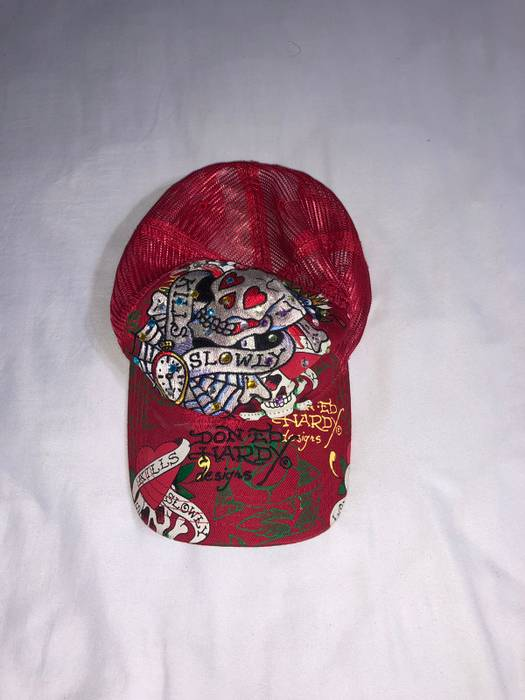 Vintage Vintage Ed Hardy Hat Size one size - Hats for Sale - Grailed 11ed63be4a37