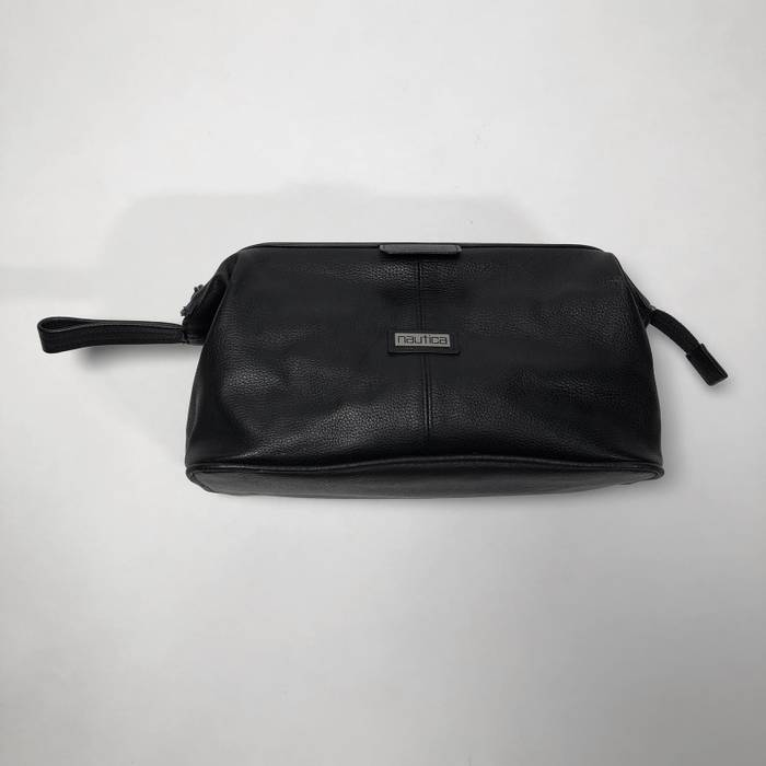 53d61c5513 Nautica Nautica black leather small travel toiletry bag Size ONE SIZE - 2