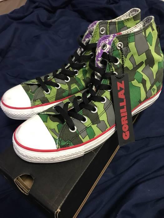 39ab0edc02a6f8 Converse. Converse X Gorillaz Camo 130258f Green Chuck Taylor All Star Hi  Top