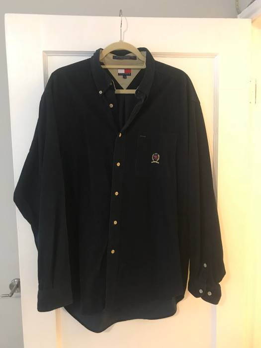 c69053ae Tommy Hilfiger Navy Blue Corduroy Long-sleeve Size l - Shirts ...
