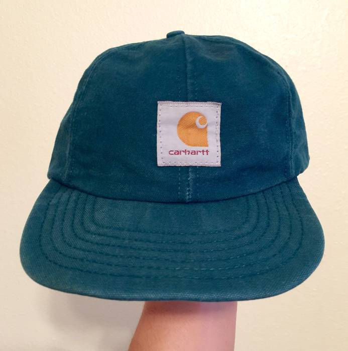 46872a2fe88 Carhartt Teal Canvas Flat Bill Snapback Hat Size one size - Hats for ...