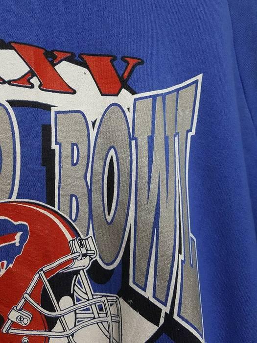 e8a0b3729 Vintage MADE IN USA Buffalo Bills Super Bowl XXV 90 s AFC Champs Sweatshirt Size  US XL