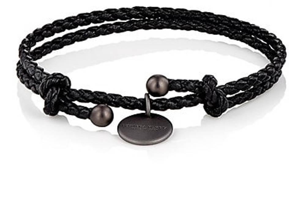 Bottega Veneta Intrecciato Leather Double Band Bracelet Size One