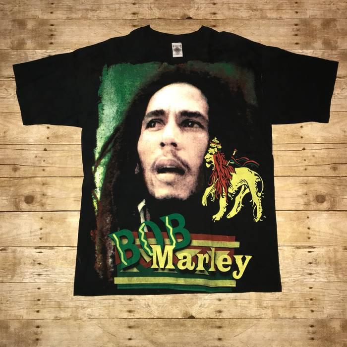 73b32fad425 Vintage Vintage Bob Marley Double Sided Big Print Tee Size US XL   EU 56