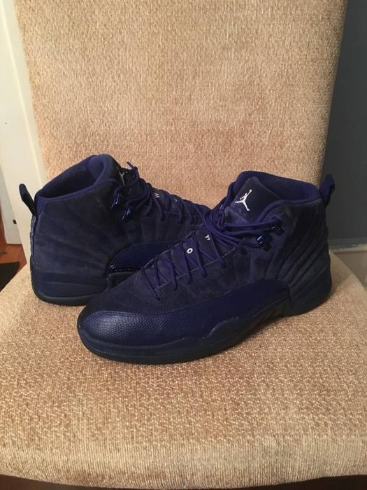 4b19cae88c44 Nike Air Jordan Retro 12 Blue Suede Size 10 - Hi-Top Sneakers for ...