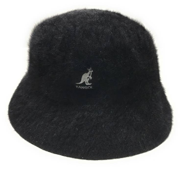 e6ad0abff92 Vintage Black Furgora Fur Casual Bucket Hat Size Large Size one size ...