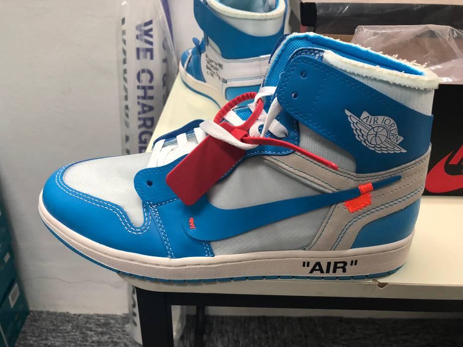 bf2eb266b58b Nike Air Jordan 1 Off White Retro High University Blue UNC Size US 12   EU