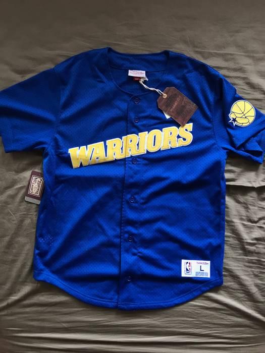 Mitchell   Ness Golden State Warriors Baseball Jersey Size l - Short ... 1cd7273ae