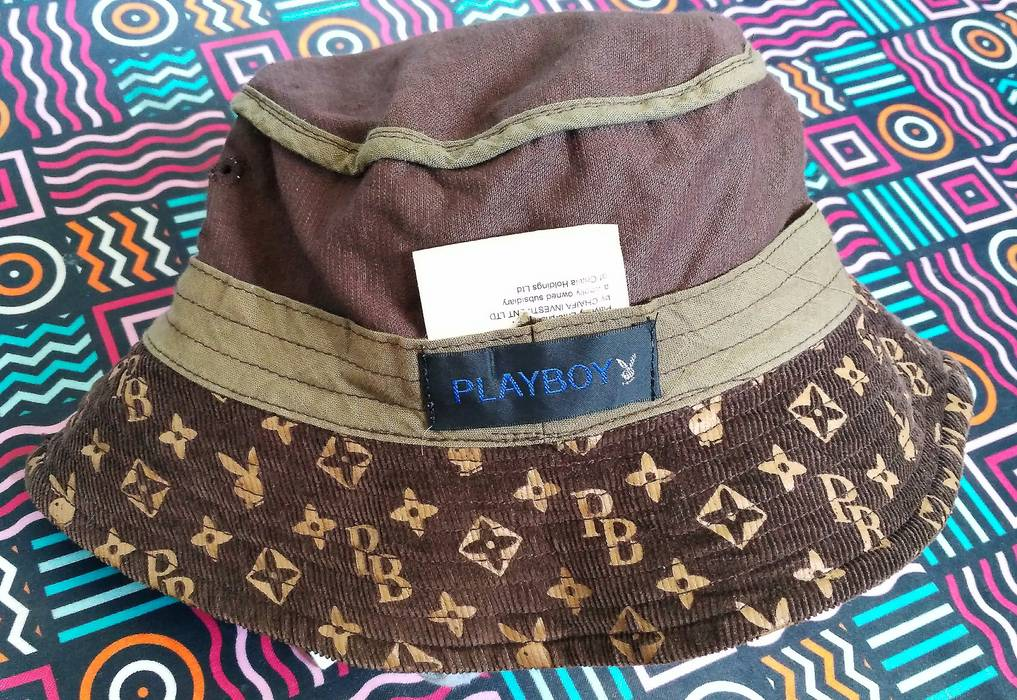Playboy Playboy monogram bucket hat corduroy brown not fendi louis vuitton  givenchy versace chanel burberry gucci f2ec9252464b