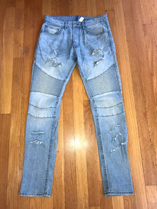 H M H M Distressed Biker Denim Skinny Jeans Men S Size 32 Size 32