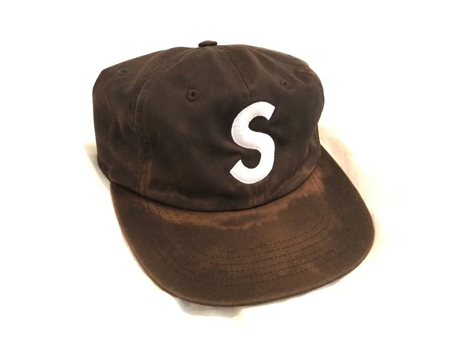 c8444135d54 Supreme. Supreme S Logo Black Six Panel Hat FW14 OG Canvas. Size  ONE SIZE